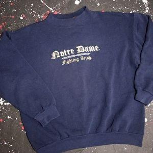 Notre Dame vintage 90s navy crewneck sweater